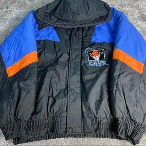 Vintage 90's Cleveland Cavs puffer jacket